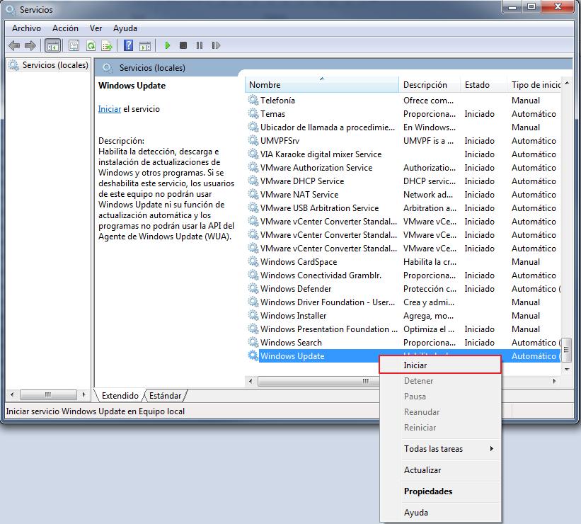 Solucionar error 8007000E de Windows Update - XARCOM BLOG